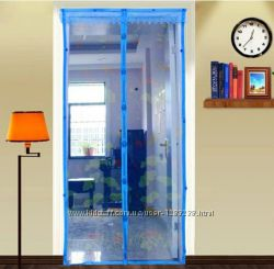 Антимоскитная сетка на магнитах 120х100 голубая