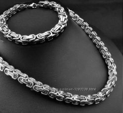 Набор Steel Rage Цепочка  браслет  silver