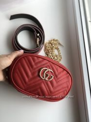 Сумка на пояс Gucci red