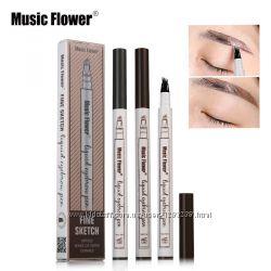 Жидкий карандаш с эффектом тату для бровей Music Flower