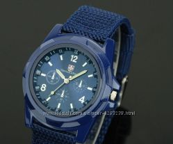 Мужские армейские наручные часы Swiss Army blue