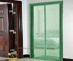 Москитная сетка на магнитах 210х120 зеленая