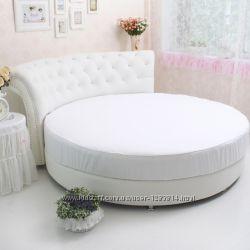 Круглая кровать. Простыни, покрывала, одеяла
