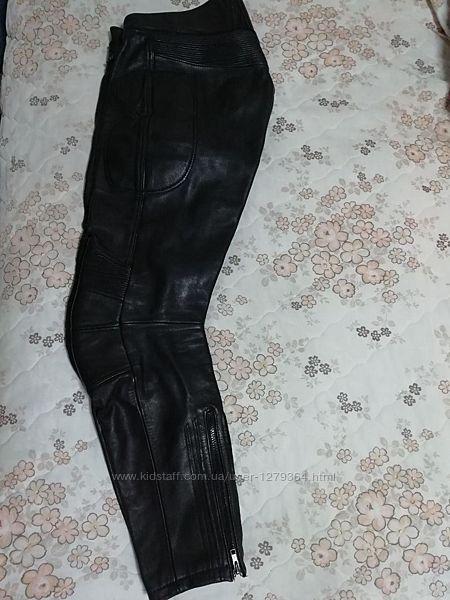 Мото штаны байкерские кожаные l-40-48