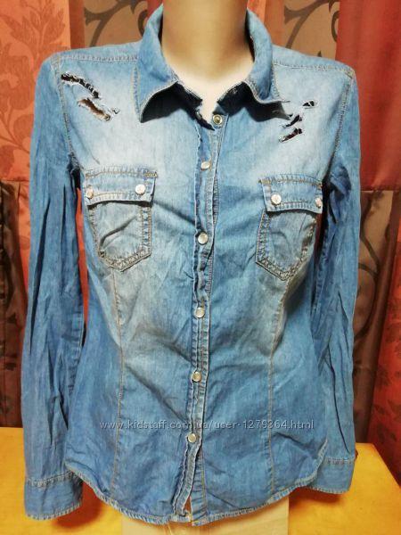 Cтильная джинсовая рубашка colours of the world размер m-38-46-10