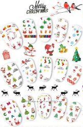 Наклейки на ногти, новогодняя тематика