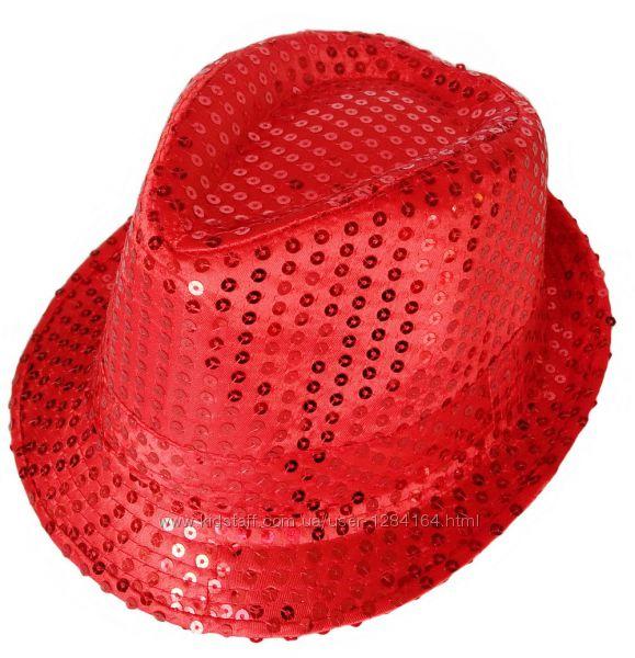 Шляпа с пайетками блестками