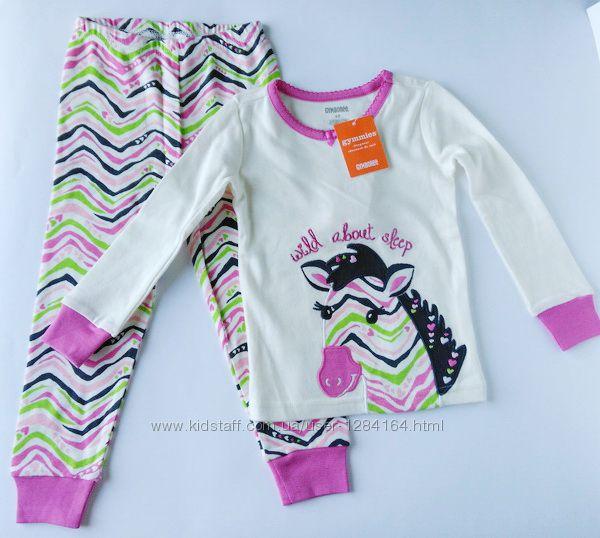 Пижама для девочки Зебра и Фея Gymboree рост 84-92 см, 99-107см, 2 и 4 года