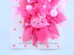 Заколка розовая Китти