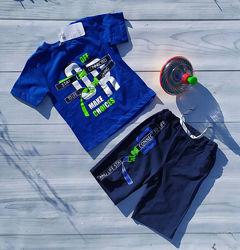 Комплект коттоновый для мальчиков футболка шорты Размеры 2- 8 лет Турция