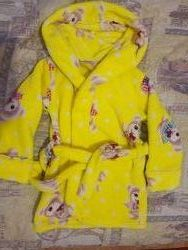 Детский теплый махровый плюшевый халат Мишки