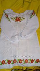 Вышиванка габардин платье  под вышивку