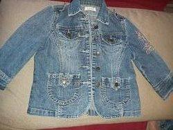 Джинсовая куртка 3-5лет