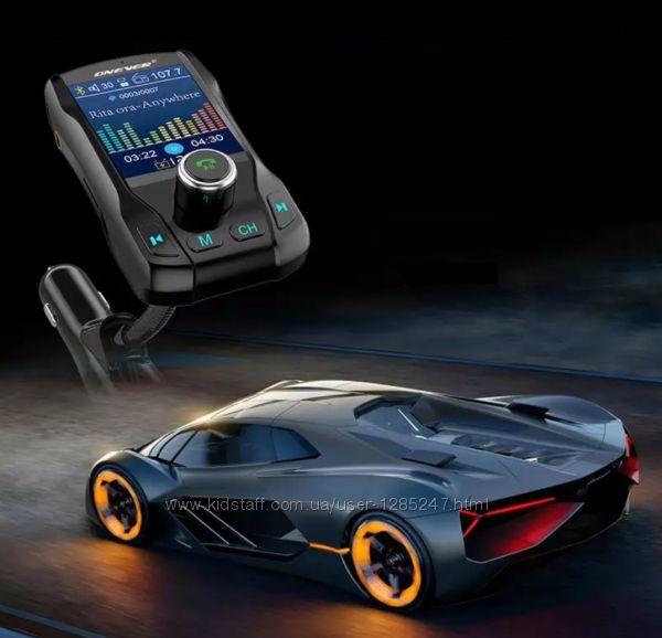Блютус фм модулятор с цветным 1.8 дисплеем чтение папок, вольтметр, bluetot