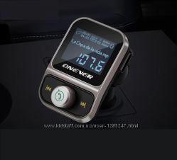 Bluetooth FM трансмиттер, 2хUSB, microSD, LineOut, громкая связь, 1. 44LCD