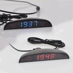 Часы автомобильные, датчик наружной температуры, Вольтметр