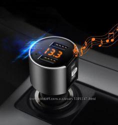 Mini Bluetooth ФМ модулятор, Громкая связь, Вольтметр, Зарядное USB