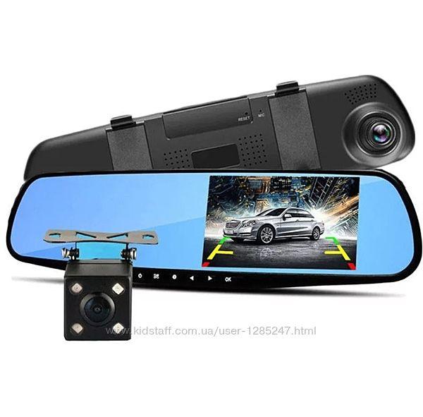 Видеорегистратор - Зеркало  Камера заднего вида 4.3 TFT/ Full HD/