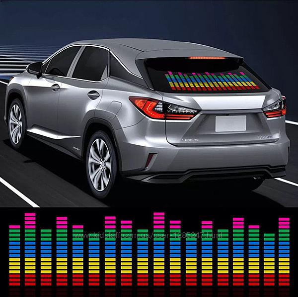 Эквалайзер LED  звуковой контроллер 90х25 см / Светомузыка / Подсветка