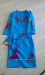 вишита сукня,