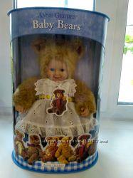 Мягкая коллекционная кукла мишутка Anne Geddes 30см