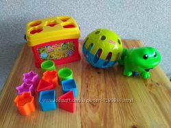 Fisher Price игрушки Фишер Прайс сортер, мяч, музыкальная лягушка