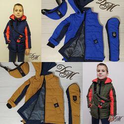Куртка -жилет бананка деми для мальчика владис 122-152р, 38