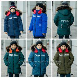 Детская Зимняя Куртка На Флисовой Подкладке Для Мальчика CУПРИМ , 104-134 р