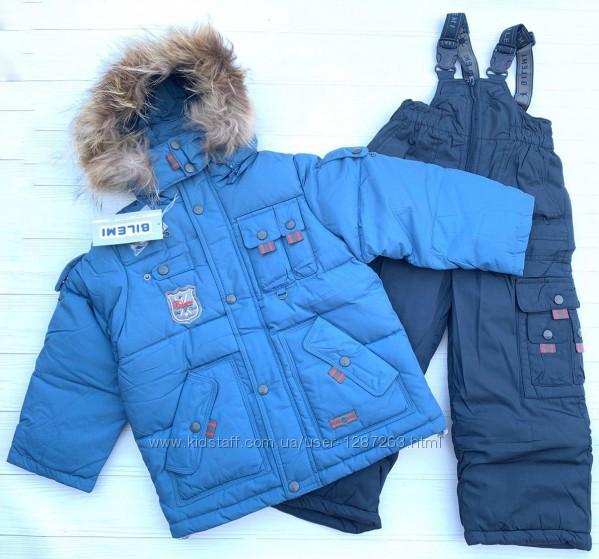 Комплект куртка, комбинезон 38578 110-134р. bilemi с натуральным мехом, 21
