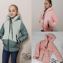 Куртка-жилет демисезонная для девочки вилена, 128-152р. , 38