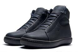 Ботинки  полуклассика кожа black 40-45рр, 13