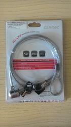 Трос с замком для ноутбука Cliptec ZL-525 с ключем