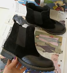 Timberland осенние женские стильные кожаные челси ботинки полусапожки