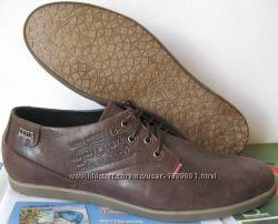 Levis коричневые классика туфли мужские стильные кожа весна лето осень