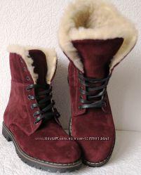 5f559169771362 Супер зимние стильные женские сапоги ботинки Timberland теплые марсала 2018