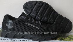 Jordan летние черные мужские подростковые кроссовки сетка кожа