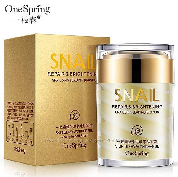 Крем для лица с экстрактом улитки и маслом ши One Spring 60гр