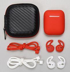 Чехол для AirPods carbon плюс амбушюры и силиконовый шнурок