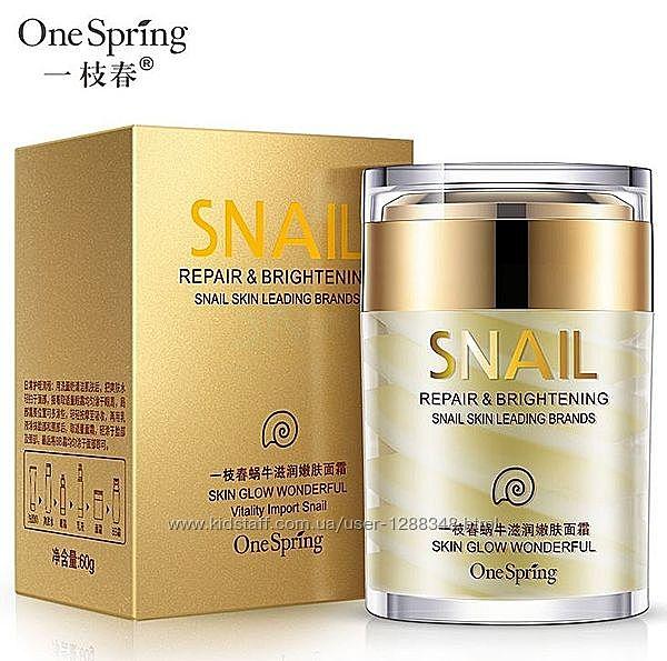 Уценка Крем для лица с экстрактом улитки и маслом ши One Spring 60гр