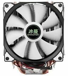 Процессорный кулер Snowman M-T6, 6 теплотрубок, 2 вентилятора 120мм