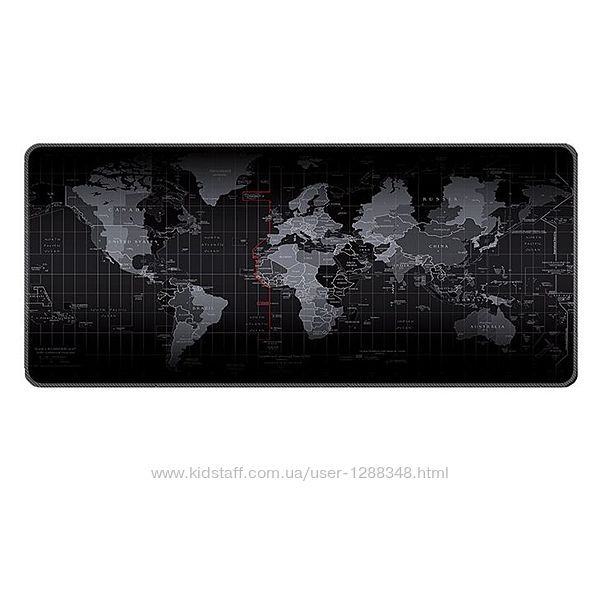 Большой игровой коврик для мыши 500x1000x3mm Карта мира