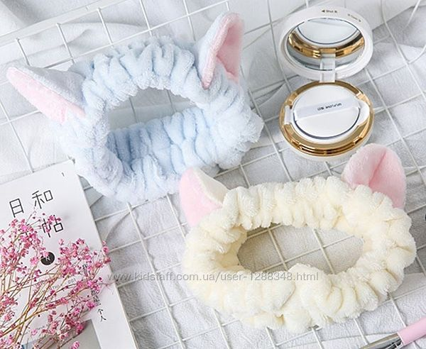 Модная косметическая повязка для волос с ушками