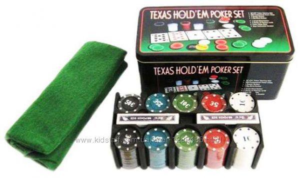 Набор для игры в покер на 200 фишек подставка под фишки