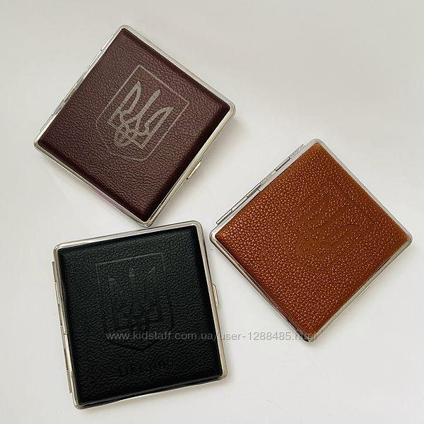 Портсигар металлический с гербом украины 20 сигарет