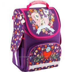 Рюкзак школьный ортопедический каркасный ТМ KITE для первоклассника девочке