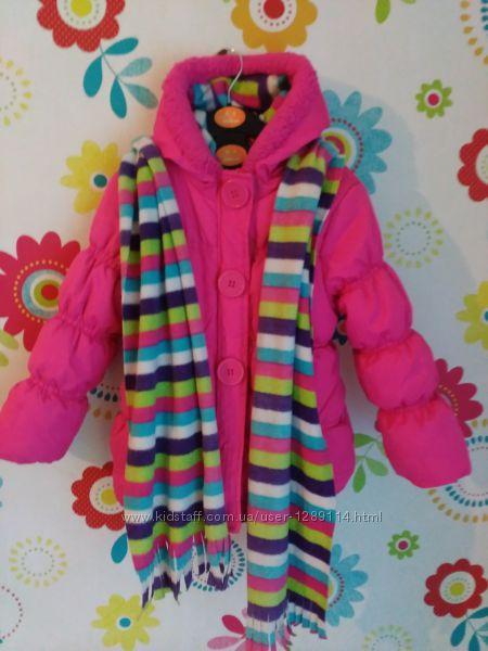 Яркая, теплая евро зима, деми курточка Pink Platinum 4Т