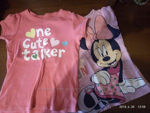 Яркие футболочки для девочки 2  4года