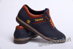 Туфли кожаные спортивные Tinberland Sheriff синие