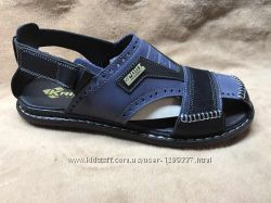 Сандалии мужские кожаные Kristan Blue - Black
