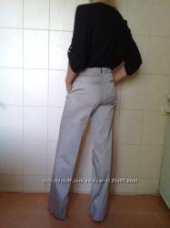 Стильные, деловые, базовые котоновые брендовые прямые брюки-трубы Kookai, на